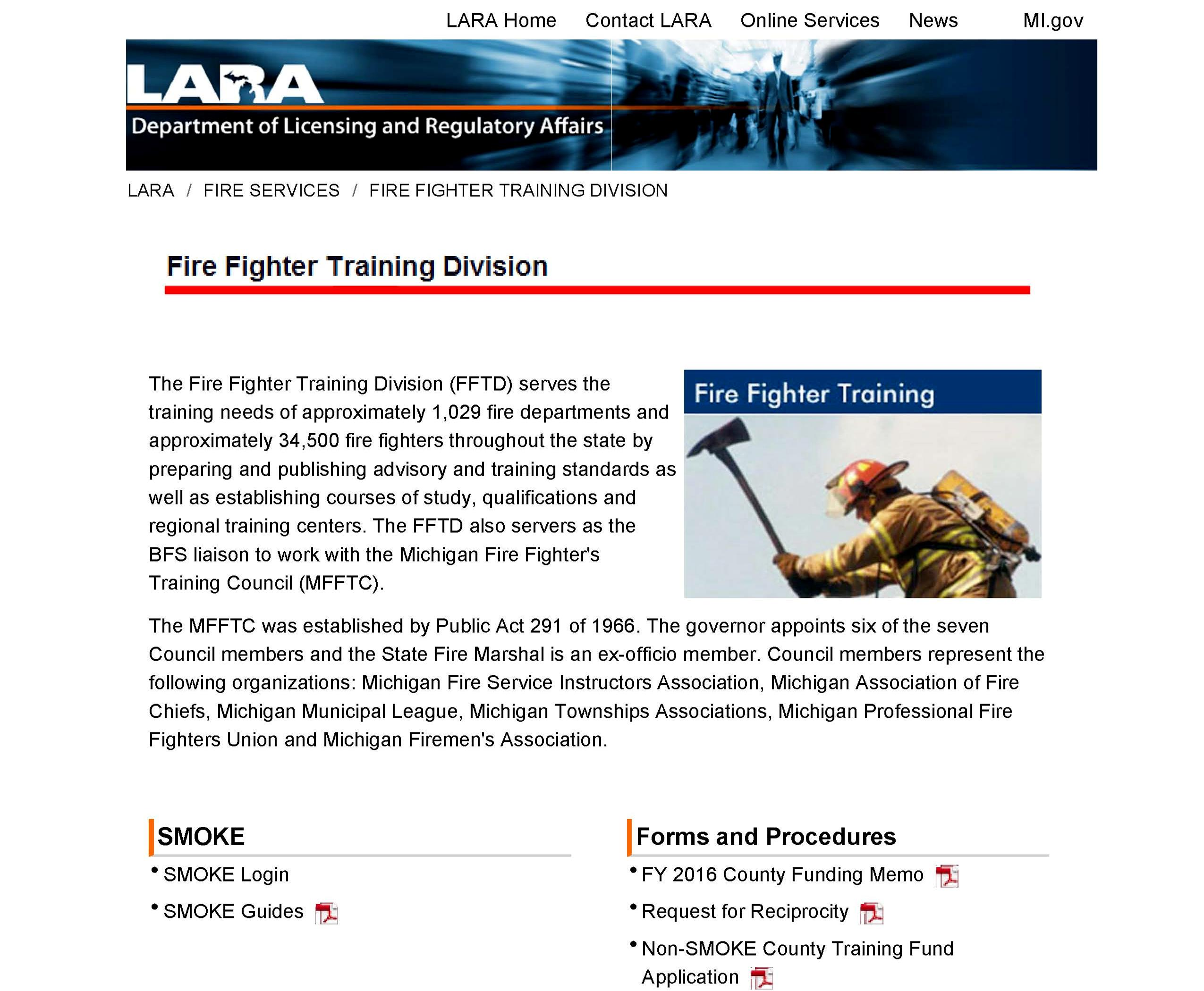 Michigan Firefighter Training Division